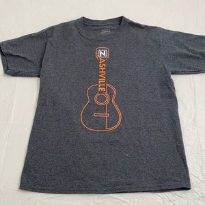 Nashville gray/orange guitar graphic t-shirt M